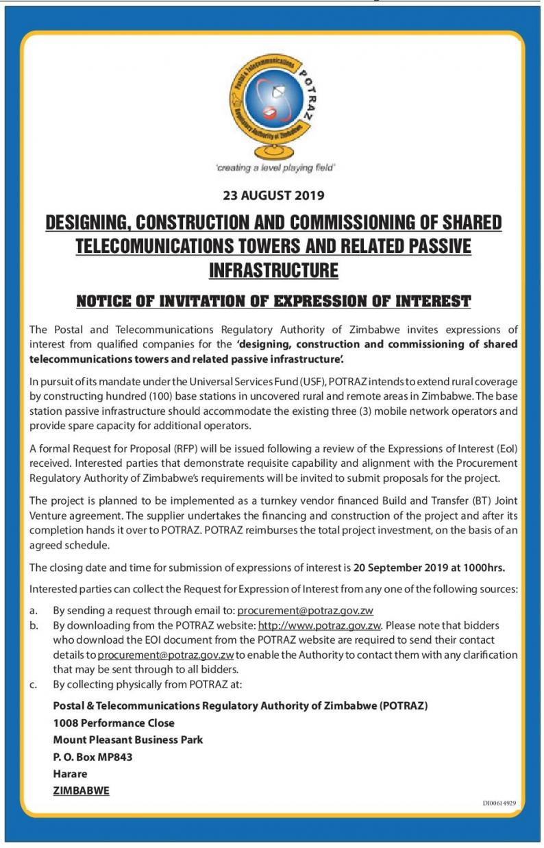 Potraz to construct 100 base station in rural areas